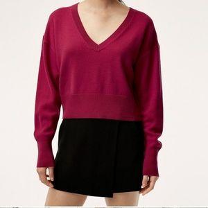 Aritzia 🎀 Babaton Ollie Cropped V-Neck Sweater